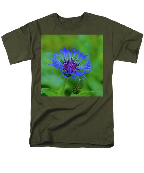 Mountain Cornflower Men's T-Shirt  (Regular Fit) by Byron Varvarigos