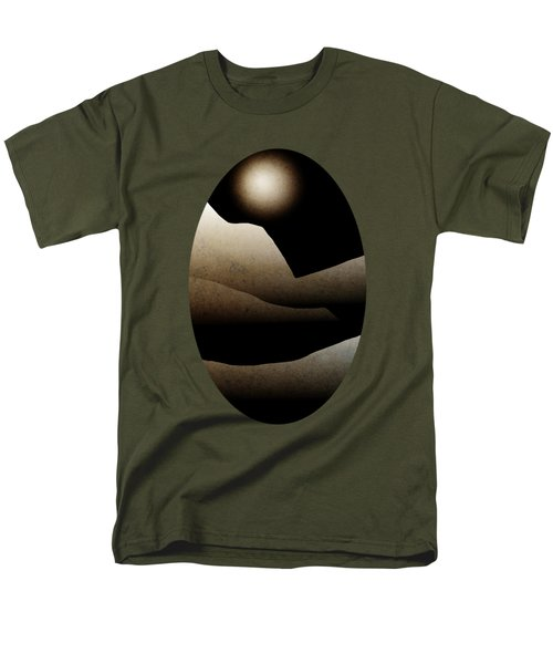 Mountain Moonlight Landscape Art Men's T-Shirt  (Regular Fit) by Christina Rollo