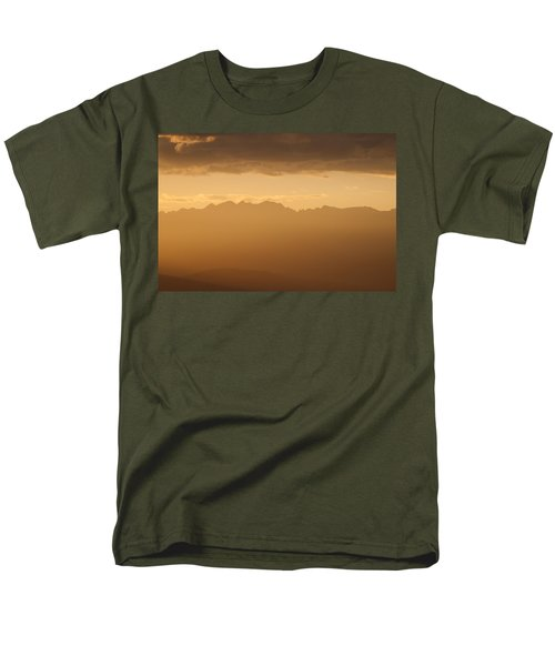 Men's T-Shirt  (Regular Fit) featuring the photograph Mountain Shadows by Colleen Coccia