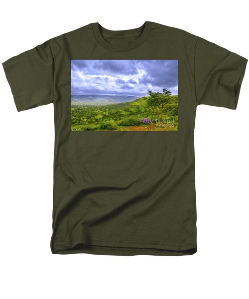Men's T-Shirt  (Regular Fit) featuring the photograph Mountain View by Charuhas Images