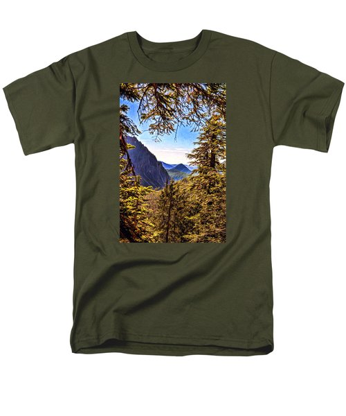 Men's T-Shirt  (Regular Fit) featuring the photograph Mountain Views by Anthony Baatz