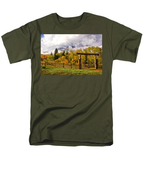 Mt Sopris Under The Clouds Men's T-Shirt  (Regular Fit) by Ronda Kimbrow