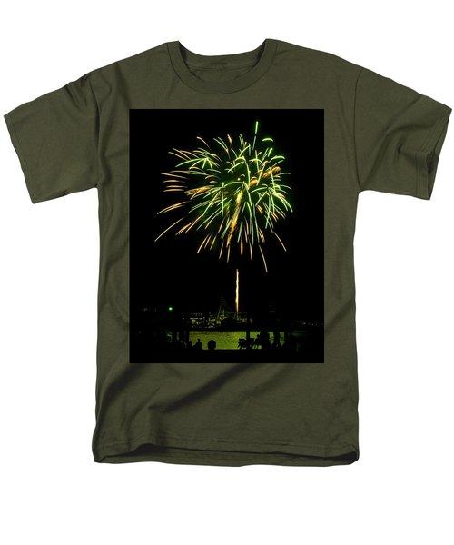Men's T-Shirt  (Regular Fit) featuring the photograph Murrells Inlet Fireworks by Bill Barber