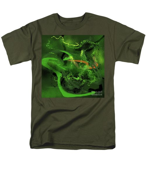 Men's T-Shirt  (Regular Fit) featuring the painting Music In Green by S G