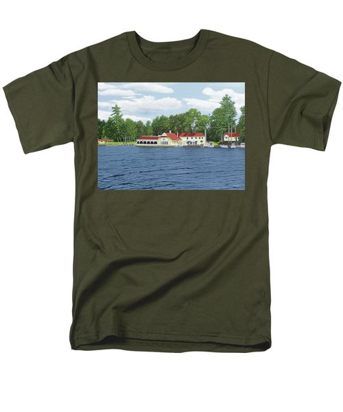Men's T-Shirt  (Regular Fit) featuring the painting Muskoka Lakes Golf And Country Club by Kenneth M Kirsch