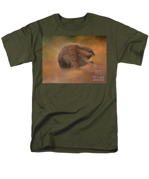 Muskrat Snack Men's T-Shirt  (Regular Fit) by Geraldine DeBoer