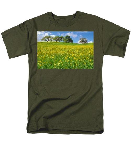 Men's T-Shirt  (Regular Fit) featuring the photograph Mustard Field by Mark Greenberg