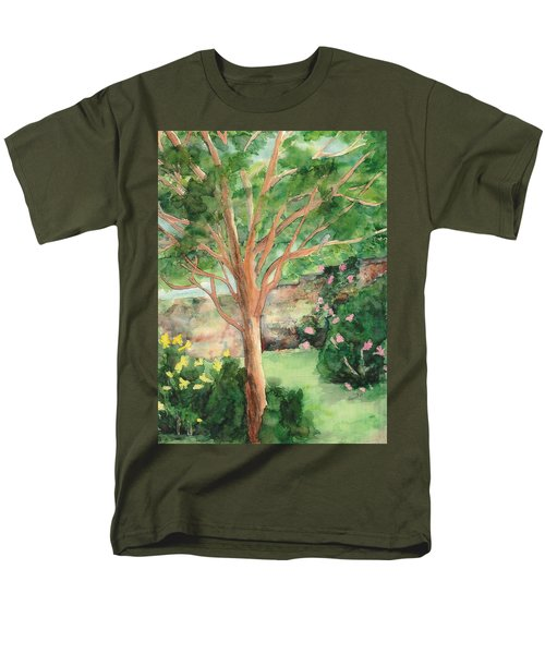 Men's T-Shirt  (Regular Fit) featuring the painting My Backyard by Vicki  Housel