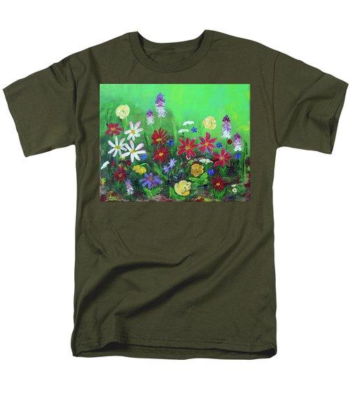 My Happy Garden 2 Men's T-Shirt  (Regular Fit) by Haleh Mahbod