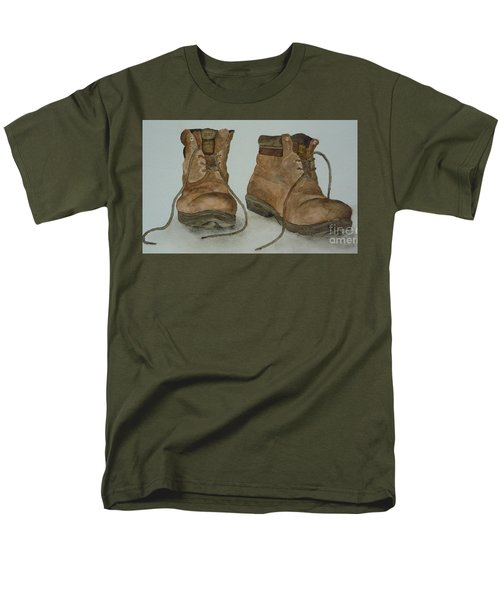 My Old Hiking Boots Men's T-Shirt  (Regular Fit) by Annemeet Hasidi- van der Leij