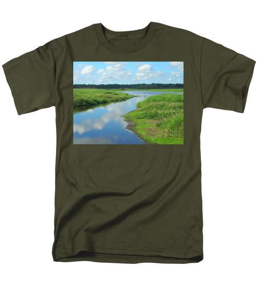 Men's T-Shirt  (Regular Fit) featuring the photograph Myakka River Reflections by Emmy Marie Vickers