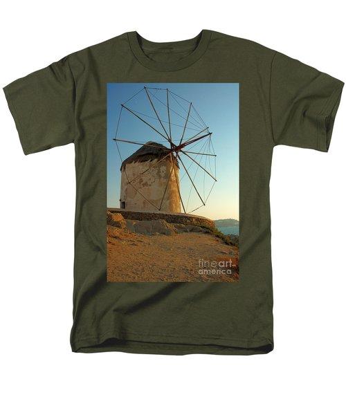 Mykonos Windmill  Men's T-Shirt  (Regular Fit) by Joe  Ng