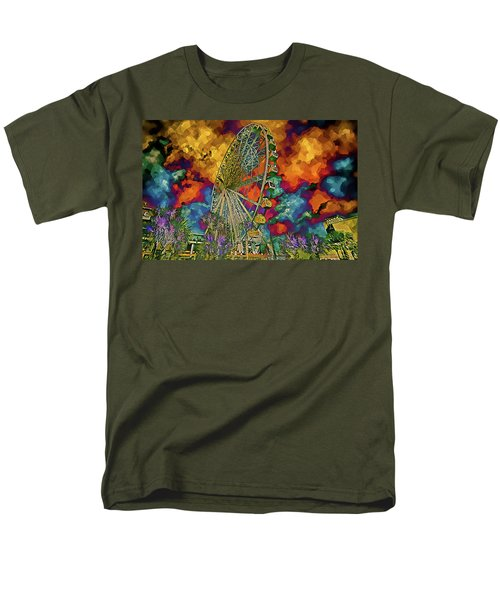 Myrtle Beach Skywheel Abstract Men's T-Shirt  (Regular Fit) by Bill Barber