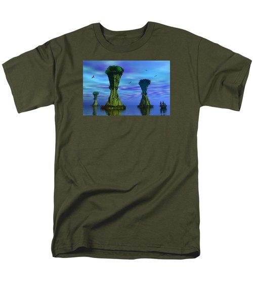 Mysterious Islands Men's T-Shirt  (Regular Fit) by Mark Blauhoefer