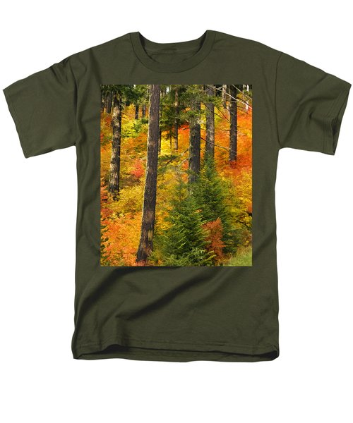 N W Autumn Men's T-Shirt  (Regular Fit) by Wes and Dotty Weber
