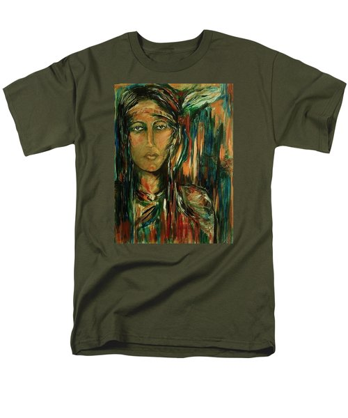 Men's T-Shirt  (Regular Fit) featuring the painting Nancy Ward Beloved Woman Nanye by Dawn Fisher
