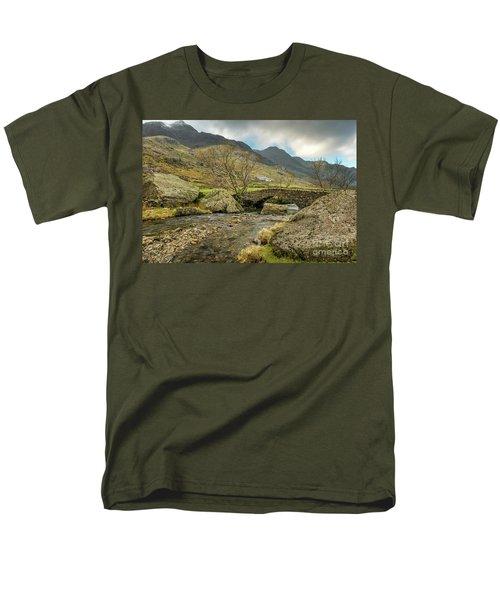 Men's T-Shirt  (Regular Fit) featuring the photograph Nant Peris Bridge by Adrian Evans