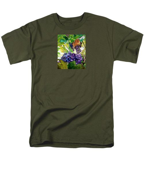 Men's T-Shirt  (Regular Fit) featuring the painting Napa Harvest by Lance Gebhardt