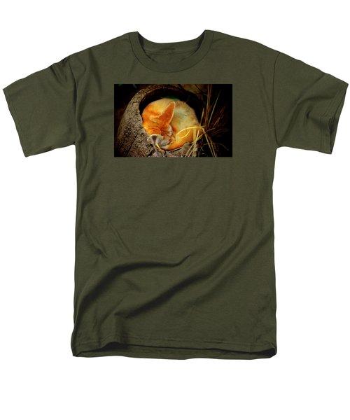 Napping Fennec Fox Men's T-Shirt  (Regular Fit) by Greg Slocum