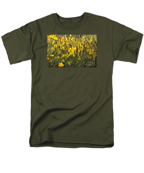 Men's T-Shirt  (Regular Fit) featuring the photograph Narcissus And Grasses by Tanya Searcy