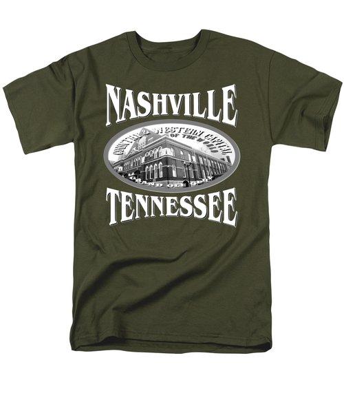 Nashville Tennessee Tshirt Design Men's T-Shirt  (Regular Fit)