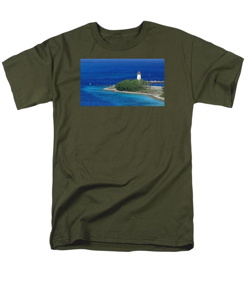 Men's T-Shirt  (Regular Fit) featuring the photograph Nassau Lighthouse 1 by Coby Cooper