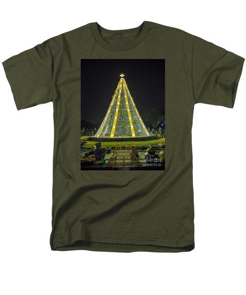 National Christmas Tree #1 Men's T-Shirt  (Regular Fit) by Sandy Molinaro