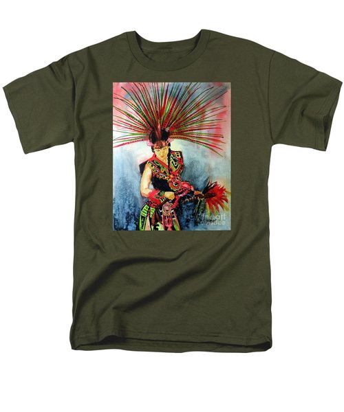 Men's T-Shirt  (Regular Fit) featuring the painting Native Dancer by Tom Riggs
