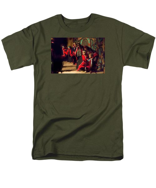 Men's T-Shirt  (Regular Fit) featuring the photograph Native Dancers by Lewis Mann