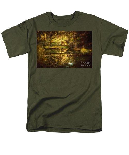Natural Falls Bridge  Men's T-Shirt  (Regular Fit) by Tamyra Ayles