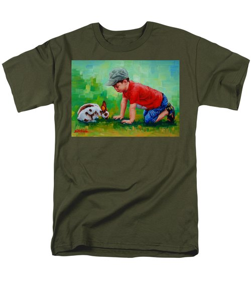 Men's T-Shirt  (Regular Fit) featuring the painting Natural Wonder by Margaret Stockdale