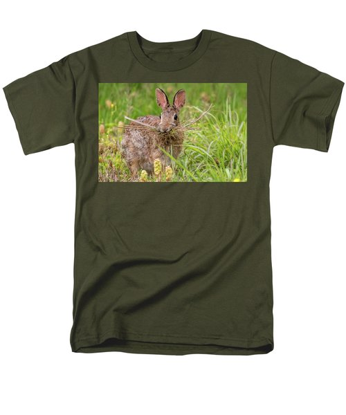 Nesting Rabbit Men's T-Shirt  (Regular Fit) by Terry DeLuco