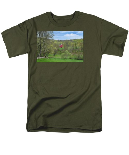 Men's T-Shirt  (Regular Fit) featuring the photograph New England Spring Pasture by Bill Wakeley