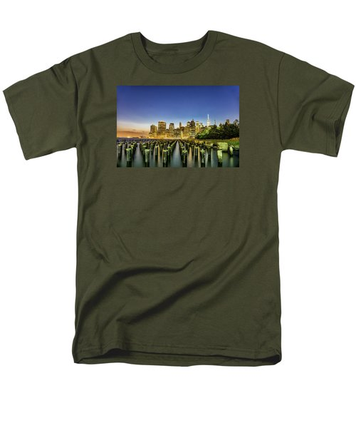 New York City From Brooklyn Men's T-Shirt  (Regular Fit) by Rafael Quirindongo