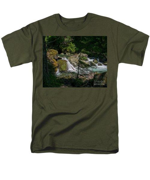 Nickel Creek 0715 Men's T-Shirt  (Regular Fit) by Chuck Flewelling