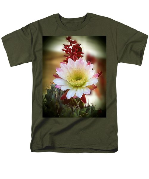 Men's T-Shirt  (Regular Fit) featuring the photograph Night-blooming Cereus 2 by Marilyn Smith