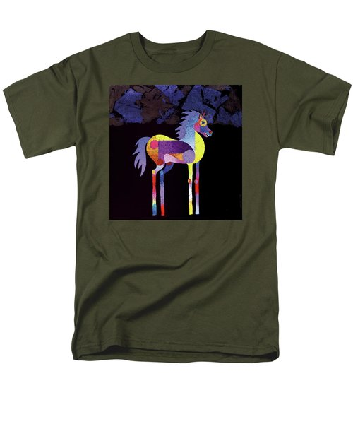Men's T-Shirt  (Regular Fit) featuring the painting Night Foal by Bob Coonts
