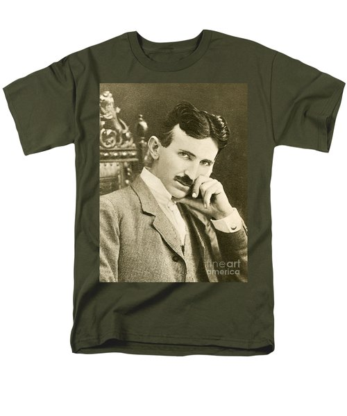 Nikola Tesla, Serbian-american Inventor Men's T-Shirt  (Regular Fit)