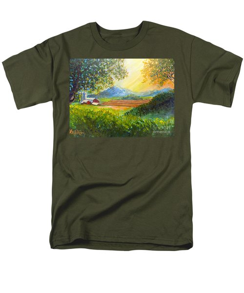 Nixon's Majestic Farm View Men's T-Shirt  (Regular Fit)