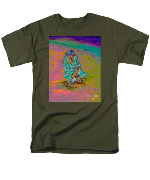 Men's T-Shirt  (Regular Fit) featuring the painting No Surrender by Loredana Messina