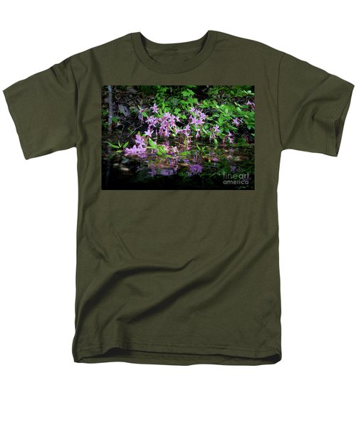 Norris Lake Floral 2 Men's T-Shirt  (Regular Fit) by Douglas Stucky