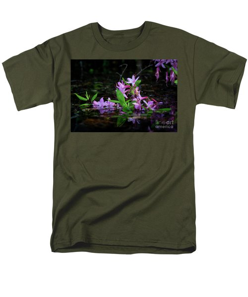 Norris Lake Floral Men's T-Shirt  (Regular Fit) by Douglas Stucky
