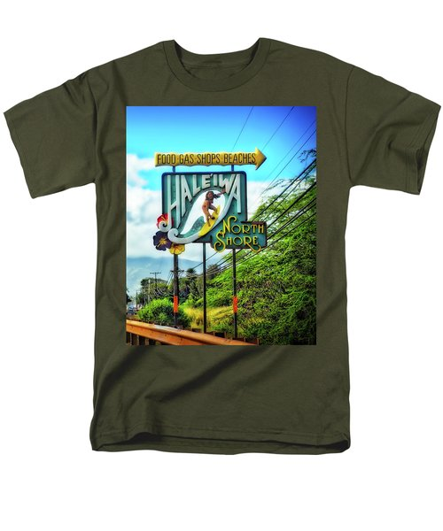 Men's T-Shirt  (Regular Fit) featuring the photograph North Shore's Hale'iwa Sign by Jim Albritton