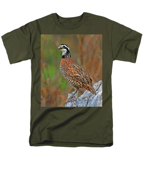 Northern Bobwhite Men's T-Shirt  (Regular Fit) by Dave Mills