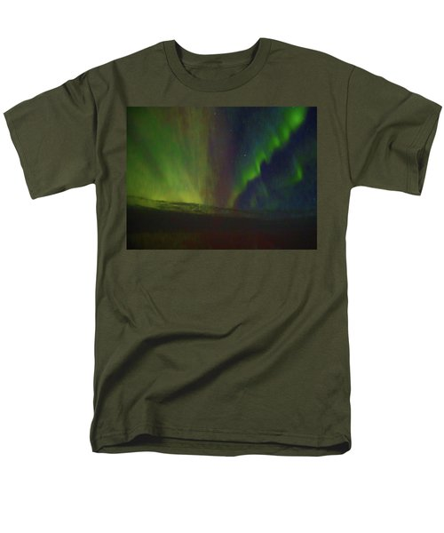 Northern Lights Or Auora Borealis Men's T-Shirt  (Regular Fit) by Allan Levin