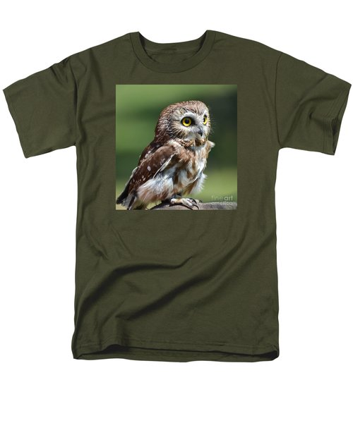 Northern Saw Whet Owl Men's T-Shirt  (Regular Fit) by Amy Porter