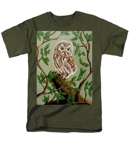 Northern Saw-whet Owl Men's T-Shirt  (Regular Fit)