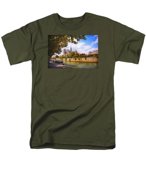 Men's T-Shirt  (Regular Fit) featuring the photograph Notre Dame by John Rivera