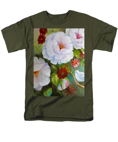 Men's T-Shirt  (Regular Fit) featuring the painting Noubliable  by Patricia Schneider Mitchell