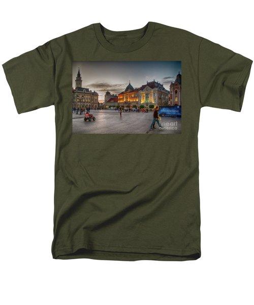 Novi Sad Liberty Square At Twilight Men's T-Shirt  (Regular Fit) by Jivko Nakev